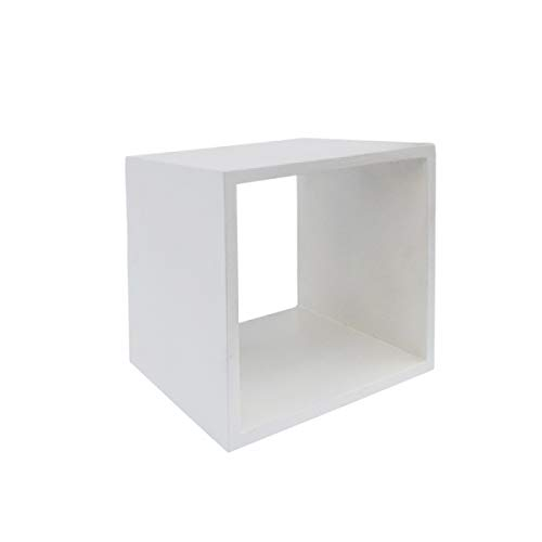 Limari Home Dotta Collection Modern Style Concrete Living Room End Table White