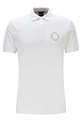 Photo of BOSS Men's Paddy 8 Polo Shirt, White (Open White 112), Large