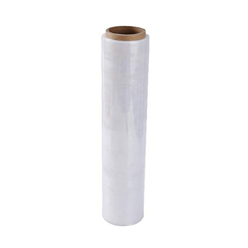 MHUI Pallet Stretch Shrink Wrap Film Width 45cm Clear Strong Cling Packaging for Wrapping Pallets Moving House Industrial Storage,45cmX342m