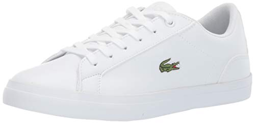 Lacoste Unisex Lerond Sneaker White, 5 Medium US Big Kid