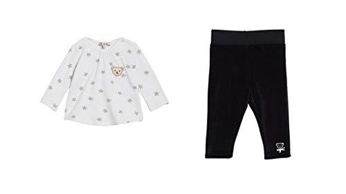 Steiff - Ensemble de chemises pour bébé - Blanc - Pantalon - Marine et coffret cadeau - - 6 mois
