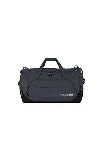 travelite große Reisetasche Größe L, Gepäck Serie KICK OFF: Praktische Reisetasche für Urlaub und Sport, 006915-04, 60 cm, 73 Liter, d'anthrazit (grau)