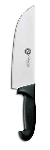 AUSONIA - Couteau Large DE Boucher avec Lame en Acier INOX 440 ET Manche ATOXIQUE en POLYPROPYLÈNE 16 CM