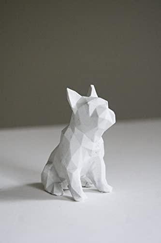 Concrete Frenchie, Small French Bulldog, Concrete Dog, Statue, Frenchie Decor