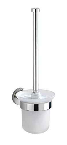 WENKO 20219100 WC-Garnitur Bosio glänzend - WC-Bürstenhalter, Edelstahl rostfrei, 10 x 35 x 14 cm, glänzend