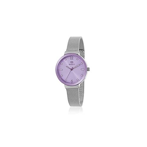 Reloj Analógico Marea B41288/4 Malla Plateado Mujer