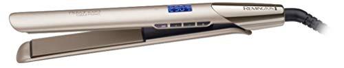 Remington S 8605 Utensilio de peinado Plancha de pelo Caliente Champán 3 m - Moldeador de pelo (Plancha de pelo, Caliente, 150 °C, 230 °C, 15 s, Champán)