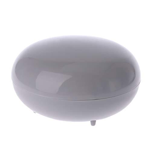 Abcidubxc Jabonera redonda de plástico, con tapa, resistente al agua