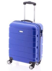 Maleta Double2 de JohnTravel, cuatro ruedas, material ABS (Azul)