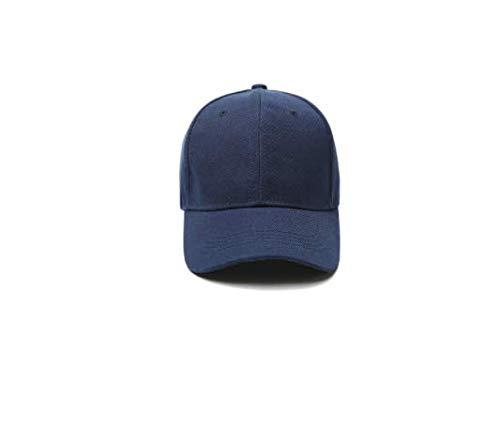 baseball cap gorra casual solid hats pure color black cap Snapback caps for men women-dark blue-6-one hat embroidery