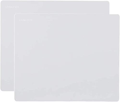 24''x20'' Extra Large Silicone Baking Mat for Dough Rolling Pastry Fondant Mat Nonstick and Nonskid Heat Resistent, Countertop Protector, Dining Table Mat and Placemat (Extra Large Gray 2 Pack)