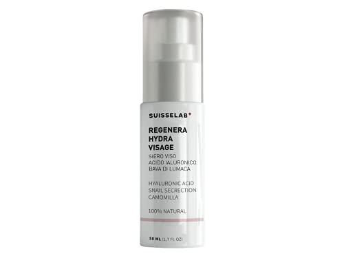 Suisse Lab - Crema Facial de Baba de Caracol Antiarrugas, Ácido Hialurónico y Vitamina E - Anti Arrugas manchas y Acné - 100% Natural - 50ml