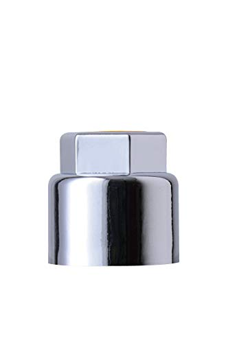 RADOLID® Radmutterschutzkappe KSW17, verchromt, 20 Stück, Schlüsselweite 17 mm, Insert grau, VERLIERSICHER