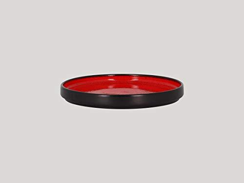 RAK Porcelain FIRE -Coupe Plate Teller -RED- flach- Durchmesser: 20cm, 12 Stück