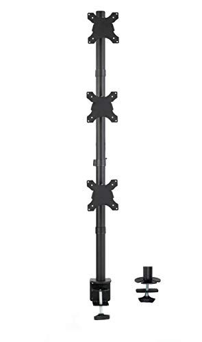 VIVO Triple LCD Monitor Desk Stand, Desktop Mount, Stacked Vertical 3 Screens up to 27 inches (STAND-V003V)