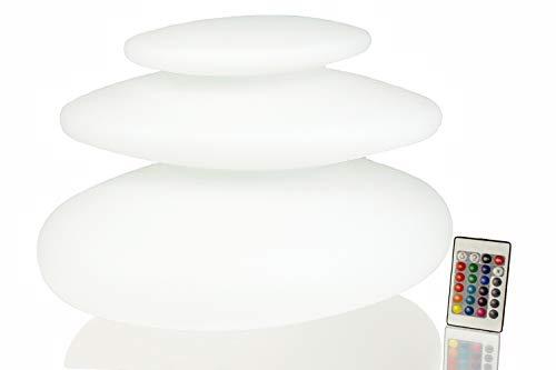 Arnusa Oasis Lights Design Leuchten Tischleuchte, mit Fernbedienung! Gartenlampe Nachttischlampe (Flatstones (42x42x29cm))