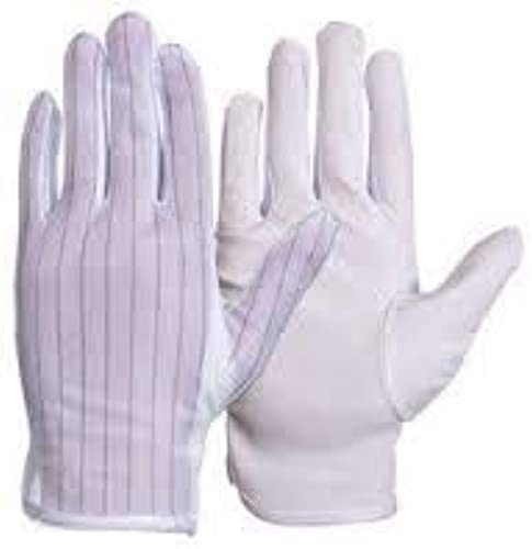 Sky Antistatic ESD Safe Dotted Gloves For Electronic Item Assembly Gloves Size M Pack 2 Pair