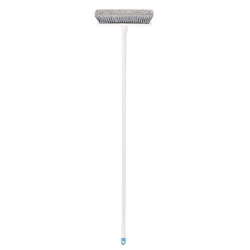 Amazon Basics - Besen mit abgewinkeltem Stiel, blau und weiß