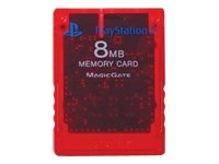Official Sony PlayStation 2 Memory Card - Crimson Red