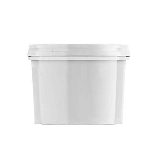 1.3 Gallon Bucket with Lid - White Plastic Pail Paint Pail/Container