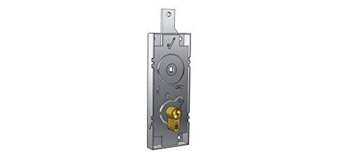 Cerradura para basculante/Garaje Cilindro de Perfil Europeo Distancia Entre Ejes 60 mm, Mango de Folle