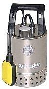 Magnet Schmutzwasserpumpe Edelstahl E-ZWM 65 A mit Schwimmer Profi Tauchpumpe 8,5 m³/h