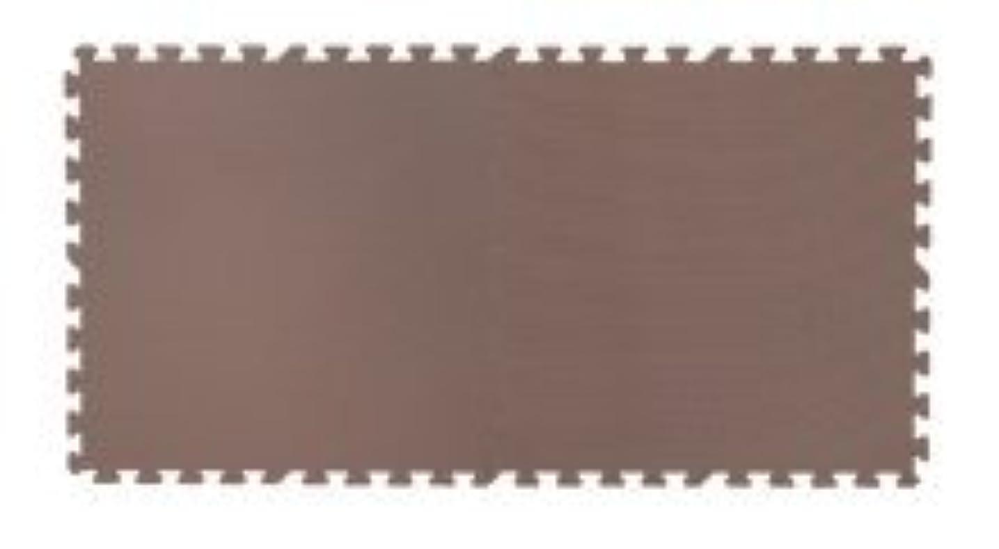 商人メダリスト簡単にレイアウト自由安心素材のカラフルジョイントマット【PlayMO】プレイモー 16枚組 (ブラウン)