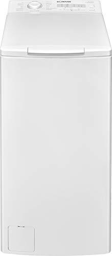 Bomann WA 7160 TL Waschmaschine Top Lader, 6.5 kg Fassungsvermögen, 16 Programme, Schleuderumdrehung max. 1.200 U/min, LED-Kontrollanzeigen, Wasserüberlaufsicherung, weiß