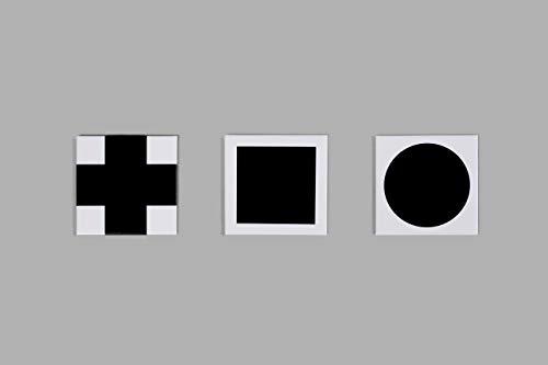 Beamalevich Imán Suprematismo Malevich - 3 imanes de Formas geométricas elementales inspirados en Kazimir Malevich y el Arte Abstracto