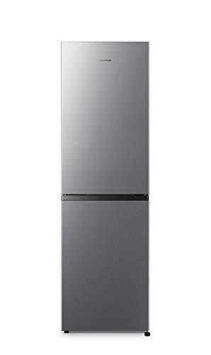 Hisense RB327N4AD2 Kühl-Gefrier-Kombination/Total No Frost/Multi Air Flow/55cm Breite/Türanschlag wechselbar 182,4 cm hoch und 55 cm breit Edelstahl