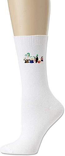 MissFortune Neue Miyazaki Spirited Away entworfene Baumwollsocken für Mädchen Weiß