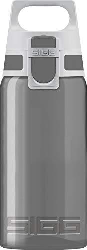 SIGG VIVA ONE Anthracite Kinder Trinkflasche (0.5 L), schadstofffreie Kinderflasche mit auslaufsicherem Deckel, einhändig bedienbare Sporttrinkflasche