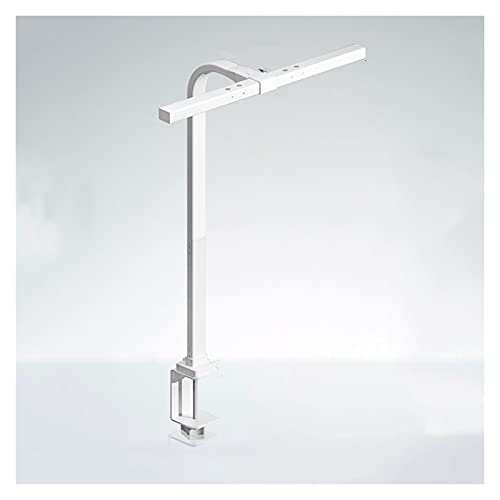 zlw-shop Lámpara de Escritorio de protección de Ojos Lámpara Luz de Clip Dimmable Táctil Control de Pantalla Lámpara de Lectura de Oficina Ajustable de Altura con luz de Relleno Inteligente, Blanco