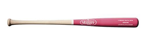 Louisville Slugger M110 Original S3 Ahorn-Baseballschläger, Split Natur/Pink, 83,8 cm/76,2 g