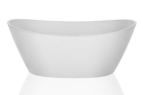 Empava Acrylic Freestanding Bathtub 67 inch Contemporary Stand Alone Soaking