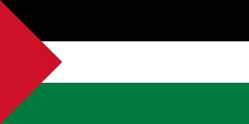 Qualitäts Fahne Flagge Palästina 90 x 150 cm mit verstärktem Hissband