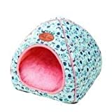 thematys Colchoneta Material de Felpa Cama de Almohada Lavable y Resistente a los arañazos para Perros y Gatos (XL, Azul)