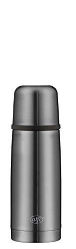 alfi Thermosflasche Edelstahl grau 350ml, isoTherm Perfect, Isolierflasche mit Trinkbecher, 5737.234.035 spülmaschinenfest, Automatikverschluss, dicht, Thermoskanne 12 Stunden heiß, 24 Stunden kalt