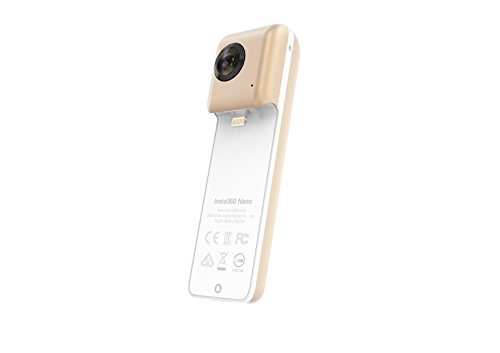 Insta360 Nano 360 Degree Camera VR 3D Panoramic Point and Shoot Digital Video Cameras 3K HD Dual Wide Angle Fisheye Lens for iPhone 7, 7 Plus and All iPhone 6 Series, 360 Live on Facebook
