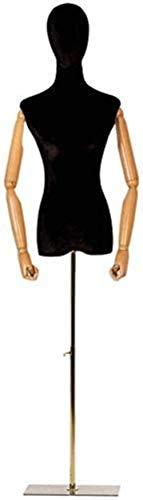 JYHW Maniquí de sastre para mujer con manos de madera, soporte de...