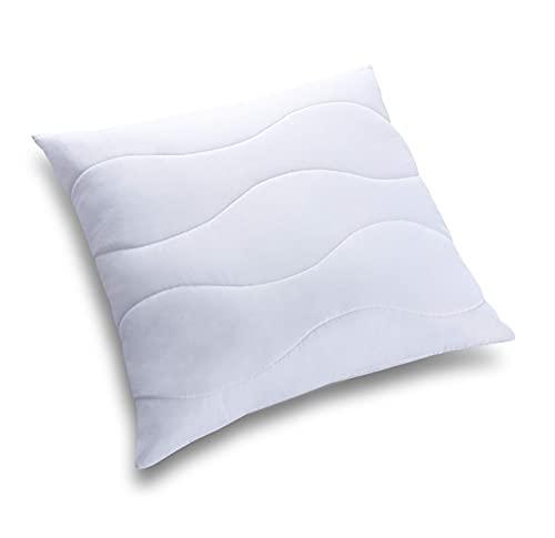 Allergiker Kopfkissen Kinder und Erwachsene aus Mikrofaser. Bequemes Kissen Bauchschläfer. EIN bequemes Weiß Schlafkissen aus flauschigem Stoff. Viele Größen. (50x75)
