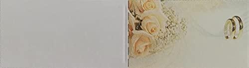 Cartotecnica Italiana 100 tarjetas de recuerdo de boda de cartón blanco con...