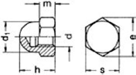 200 pcs) Metric DIN 1587 M5X 8 Hexagonal Dome (Acorn) Nut Brass