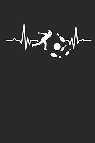 Kegeln Herzschlag: Notizbuch A5 und Kegelbuch für den Besten Kegler der den Kegelpin von der Kegelbahn schießt I ca. A5 (6x9 inch.) I Geschenk I 120 Seiten I Liniert