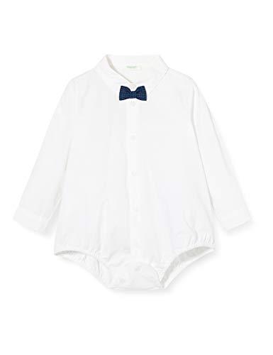 United Colors of Benetton Baby-Jungen Blusa Body Freizeithemd, Weiß (Bianco 101), 68