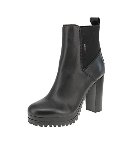 Tommy Hilfiger TJ Essentials, Botas de Moda Mujer, Black, 37 EU