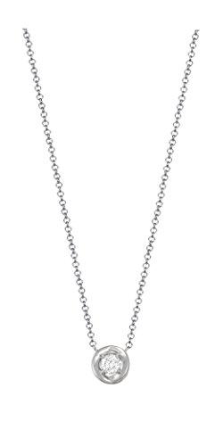 Esprit Essential Damen-Kette mit Anhänger 925 Silber rhodiniert Zirkonia transparent