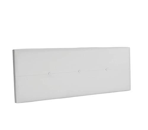 DHOME Cabecero de Polipiel o Tela AQUALINE Pro cabeceros Cabezal tapizado Cama Lujo (Polipiel Blanco, 145cm (Camas 120/135/140))
