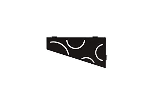 Schluter Systems Quadrilateral Corner Shelf-E - Curve Design - Matte Black - SES3D6MGS Kerdi-Line Shower Acessory