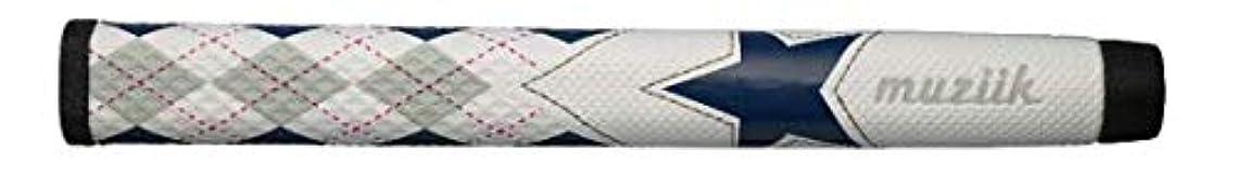 無秩序スキャンダルエンジンmuziik グリップ パター グリップ ムジーク ワンスターアーガイル グレーネイビー ST ユニセックス PWE2V-GQT/BL-01